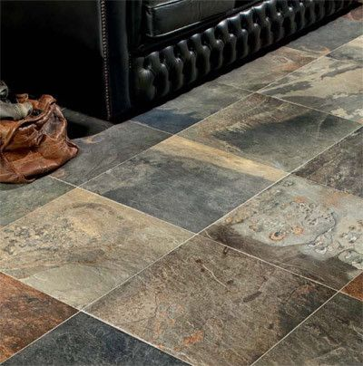 Natural Indian Slate Porcelain Tile Floor Tiles Kitchens