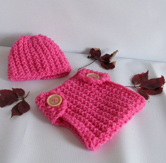 Newborn baby girl or boy hand knitted diaper by recyclingroom, $29.00