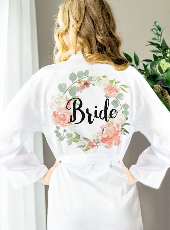 Wedding Robes for Bride & Bridesmaids Floral by ZCreateDesign