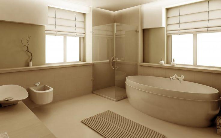 Łazienka w jasnej tonacji. Fot. Invena