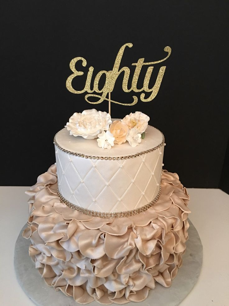 17 Best Ideas About 80th Birthday Cakes On Pinterest