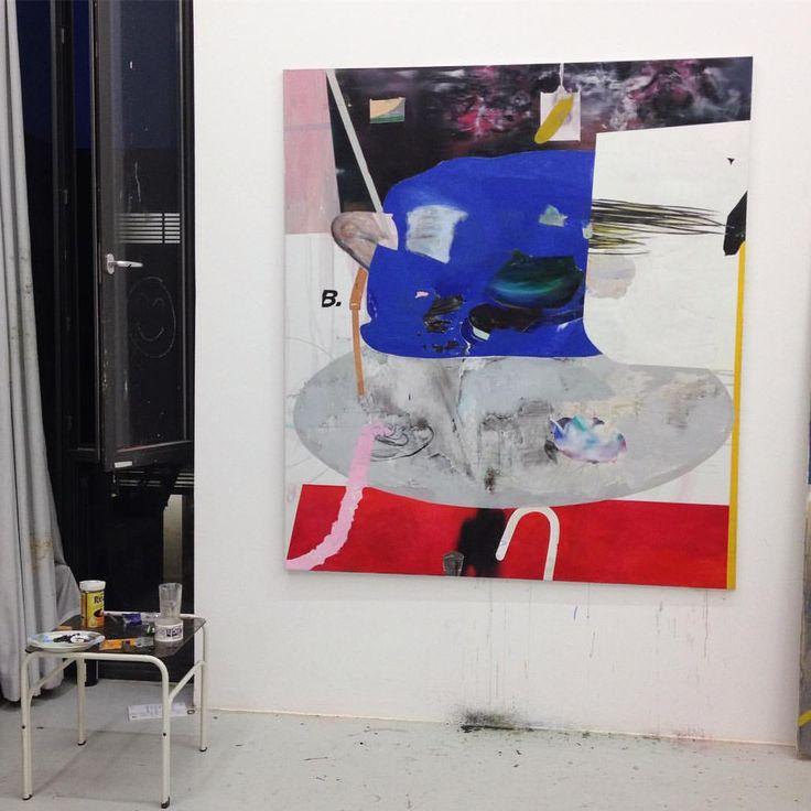 """VOLO BEVZA, """"vi at home"""", oil on canvas, 2016 in the studio"""