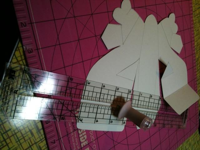 Paper high heel shoe template