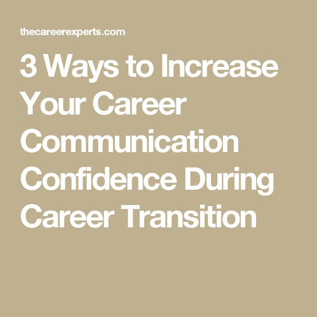 3 Ways To Increase Your Career Communication Confidence During Career  Transition