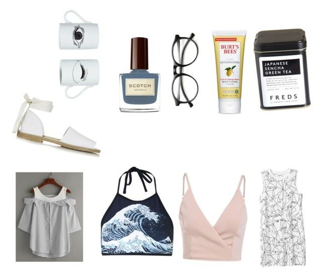 """""""B-day goodies """" by boshoffanina on Polyvore featuring beauty, Burt's Bees, Motel, Monki, Topshop, FREDS at Barneys New York, INDIE HAIR and DOMESTIC"""