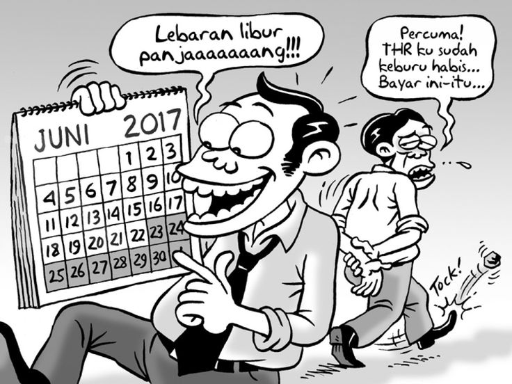 KARTUN BENNY - Lebaran Libur Panjang - Sumber: Kontan, Terbitan: Juni 2017 (KLIK gambar untuk memperbesar)