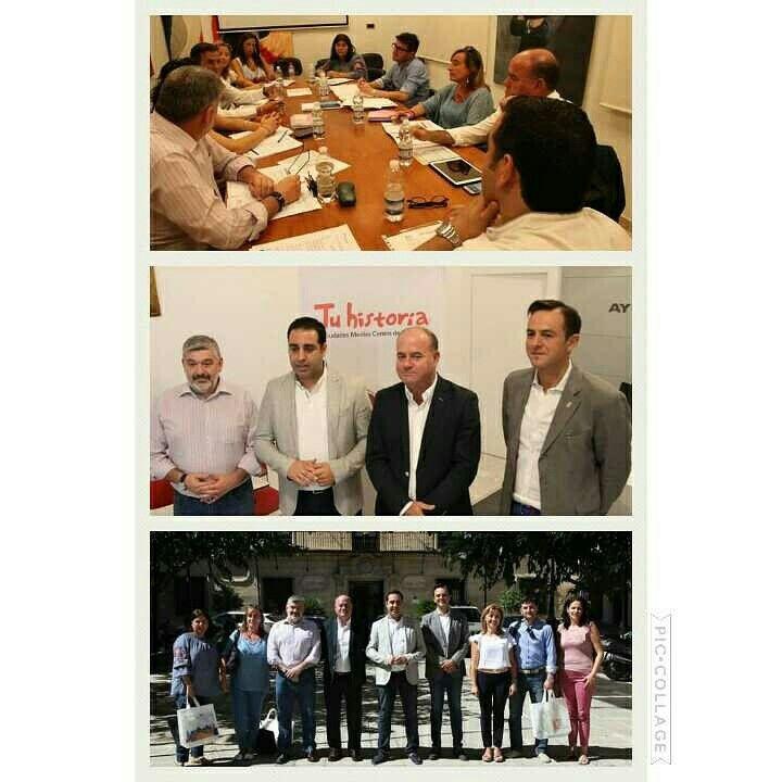 Momentos del Patronato de la Fundación Ciudades Medias del Centro de Andalucía celebrado hoy en el Excmo Ayuntamiento De Alcalá la Real.