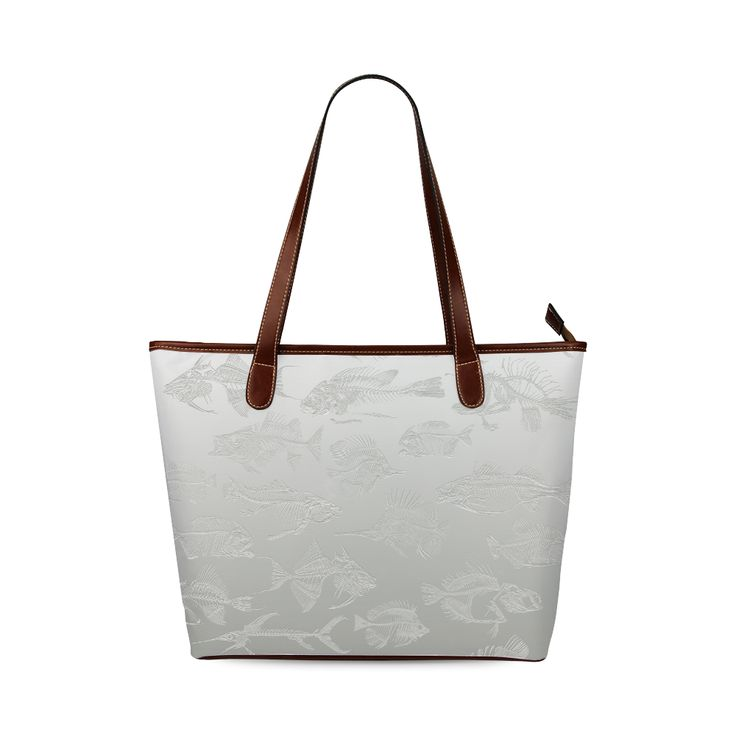 FOSSIL FISH WHITE Shoulder Tote Bag (Model 1646) Designed by Krydy $ 40 #ootd #outfitoftheday #lookoftheday #TagsForLikes #TFLers #fashion #fashiongram #style #love #beautiful #currentlywearing #lookbook #wiwt #whatiwore #whatiworetoday #ootdshare #outfit #clothes #wiw #mylook #fashionista #todayimwearing #instastyle #TagsForLikesApp #instafashion #outfitpost #fashionpost #todaysoutfit #fashiondiaries #cristinaguggeri #krydy #sneakerfreak #sneakerporn #shoeporn #fashion #swag #instagood…