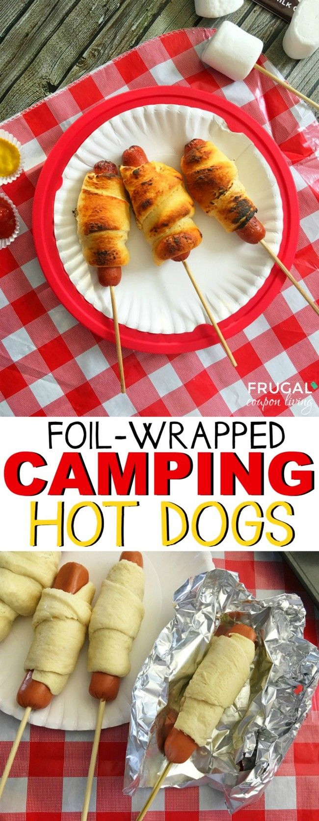 Foil wrapped hot dog recipe and The 11 Best Camping Recipes (Camping Hacks Food)