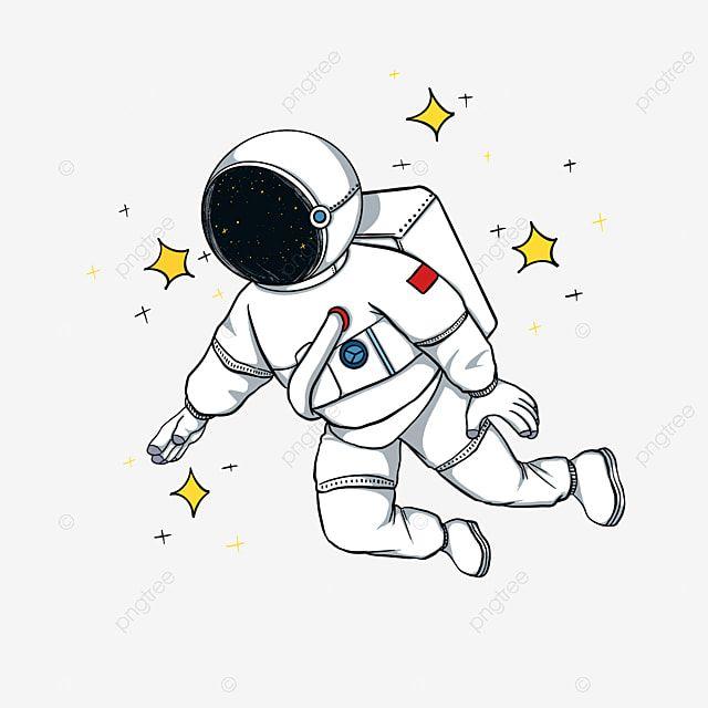 رائد فضاء الكون كوكب الفضاء السماء المليئة بالنجوم رسمت باليد كرتون صورة توضيحية على Pngtree غير محفوظة الحقوق
