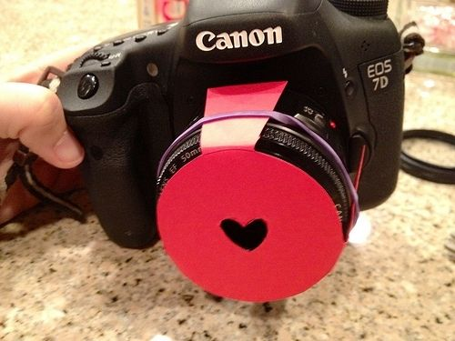 Cut out a shape of sturdy paper to put over a camera lens to create an awesome filter for pictures. 5 Simple Pinterest DIYs   Lovelyish