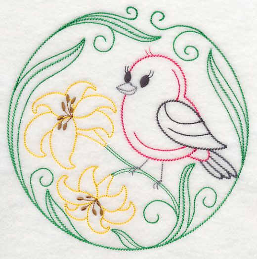 521 best Embroidery Birds images