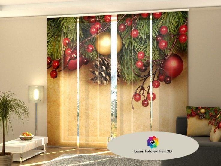 """Schiebegardinen 3D """"Weihnachten"""" Schiebe-Vorhang Flächenvorhang 4-er Set alle Maßen kaufen bei Hood.de"""