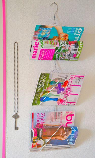 Wire Magazine Holder Repurpose