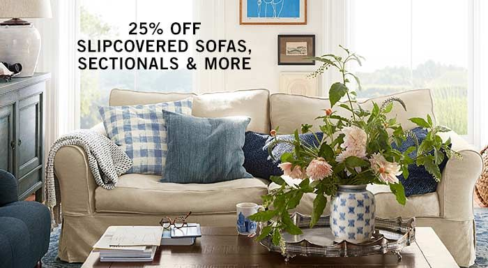 Slipcovered Sofas, Sectionals & More Sale