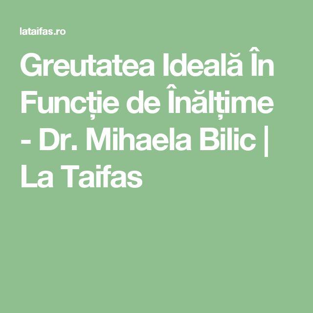 Greutatea Ideală În Funcție de Înălțime - Dr. Mihaela Bilic | La Taifas