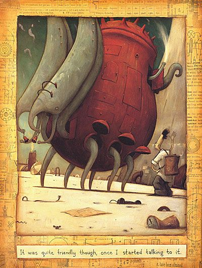 An explication about the inimaginable book of Shaun Tan with some pictures of the book itself.