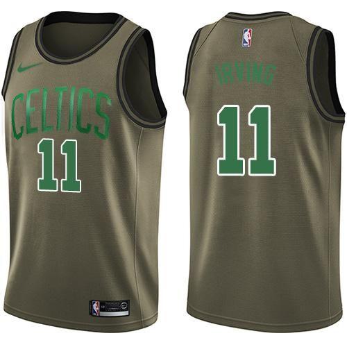 new product 47517 b035e Boston Celtics Nike NBA #Kyrie Irving11 Men's Replica Shirt ...