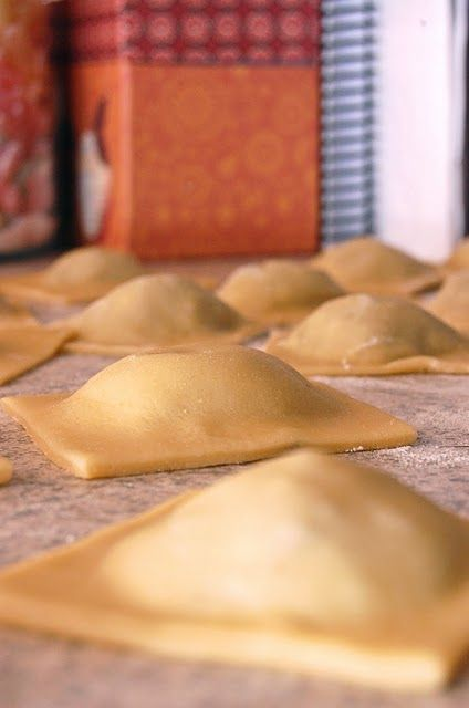 Homemade Portabella Mushroom Ravioli with Creamy Sundried Tomato Sauce. This sounds heavenly!!