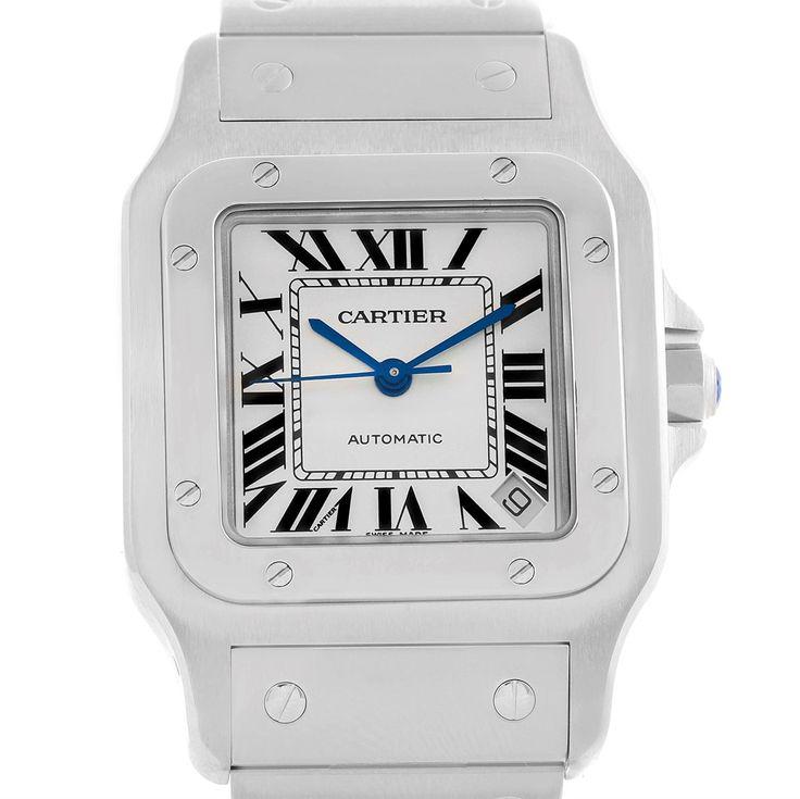16289 Cartier Santos Galbee XL Steel Mens Automatic Watch W20098D6 Box SwissWatchExpo