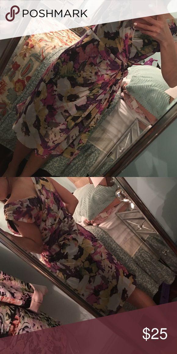 Adrianna papell dress petite Floral multi color dress Adrianna Papell Dresses Midi