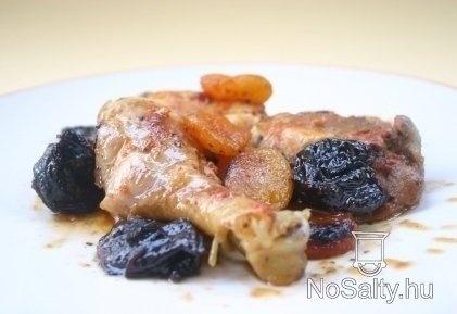 Aszalt gyümölcsös csirkecomb Kikitől: http://www.nosalty.hu/recept/aszalt-gyumolcsos-csirkecomb