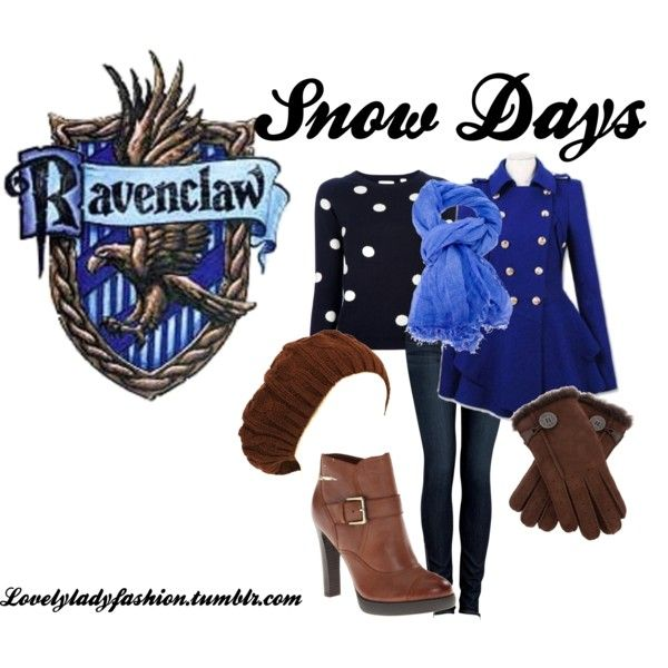 """Ravenclaw Snow Days"" by nearlysamantha on Polyvore 