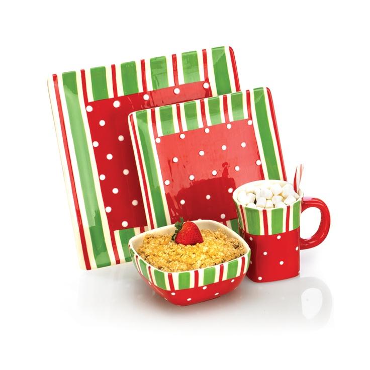 Open Stock Christmas Dinnerware