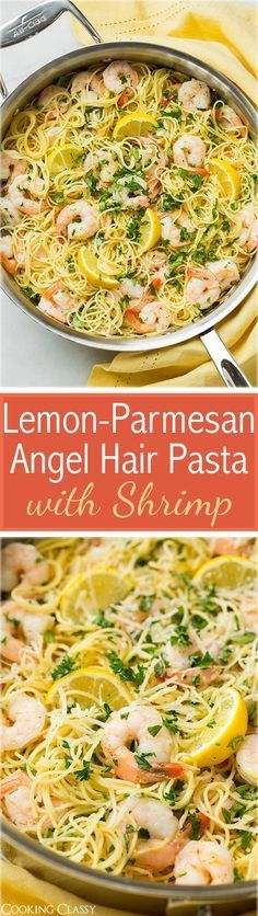 Lemon-Parmesan Angel Hair Pasta with Shrimp - except maybe no shrimp ...