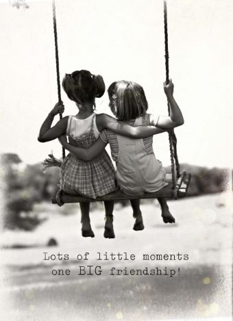 Lots of little moments one BIG friendship! #friends #quotes #hallmark