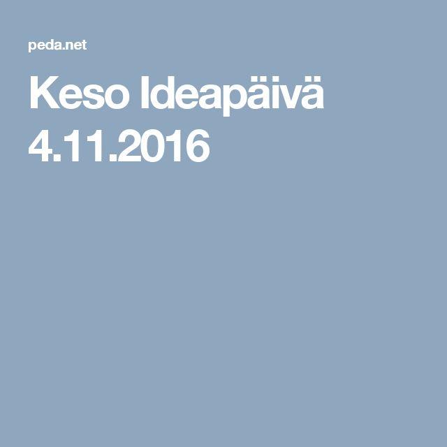 Keso Ideapäivä 4.11.2016