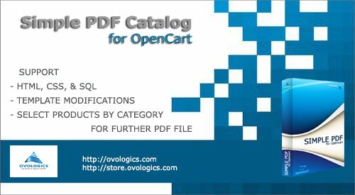 Simple PDF Catalog extension for OpenCart is an intuitive and powerful tool for generating PDF document based on products user has selected. Generated PDF catalog could contain products' images, prices, titles and other metadata loaded from your store.  #Ovologics #extension #ecommerce #Template #PDF #OpenCart #eCommerce #store