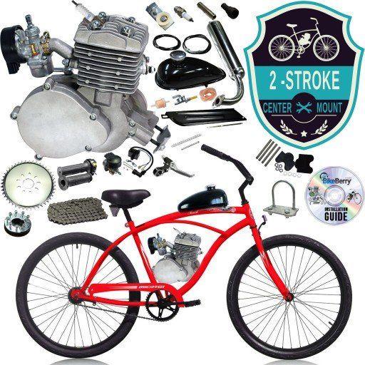 2-Stroke Motorized Bicycle 26 Inch Micargi Men's Touch Beach