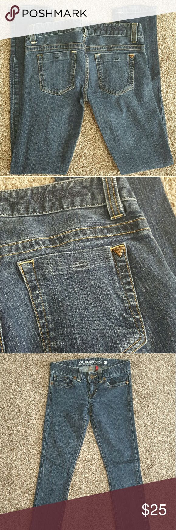 GUESS Jeans Skinny Leg Beautiful pair of dark rinse daredevil guess jeans SIZE 27 Guess Jeans Skinny