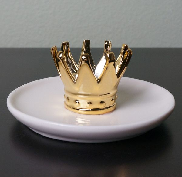 Crown Jewels Crown Ring Holder Jewelry Dish by imm Living
