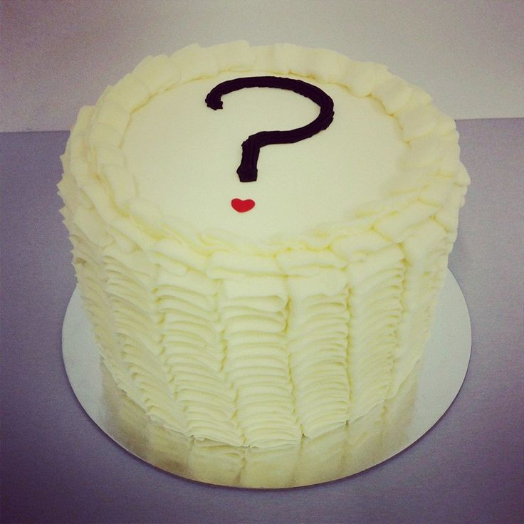 Cream Ruffle with Question Mark Gender Reveal