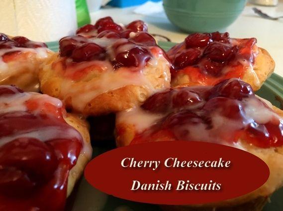 Cherry Cheesecake Danish Biscuits http://www.momspantrykitchen.com/cherry-cheesecake-danish-biscuits.html  Use Gluten Free biscuits to make gluten free