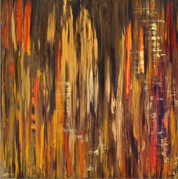 "Untitled 2009 Oil and Acrylic on Panel 54 x 54"" New York, NY www.priyankamac.com"