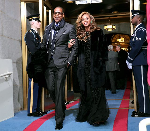 """Jay-Z and Beyonce arrived at the U.S. Capitol on Jan. 21 for President Barack Obama's second inauguration in Washington, D.C., where the """"I Was Here"""" singer performed the National Anthem."""