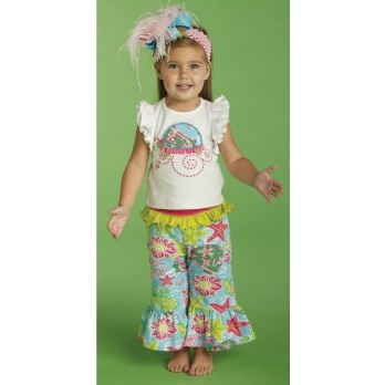 Turtle Top and Yoga Pants by Mud Pie (2T/3T) Minus the headband that looks like a flamingo died on it