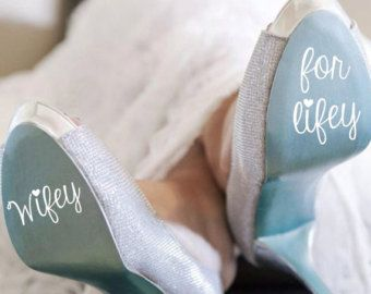 Items similar to Wedding Shoe Decal on Etsy