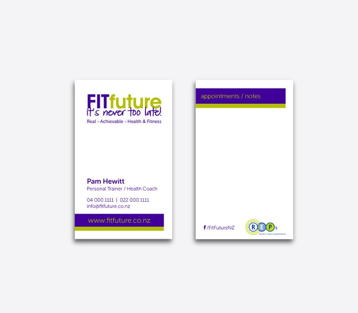 FITfuture Business Cards Design by CREATIVA Design Studio