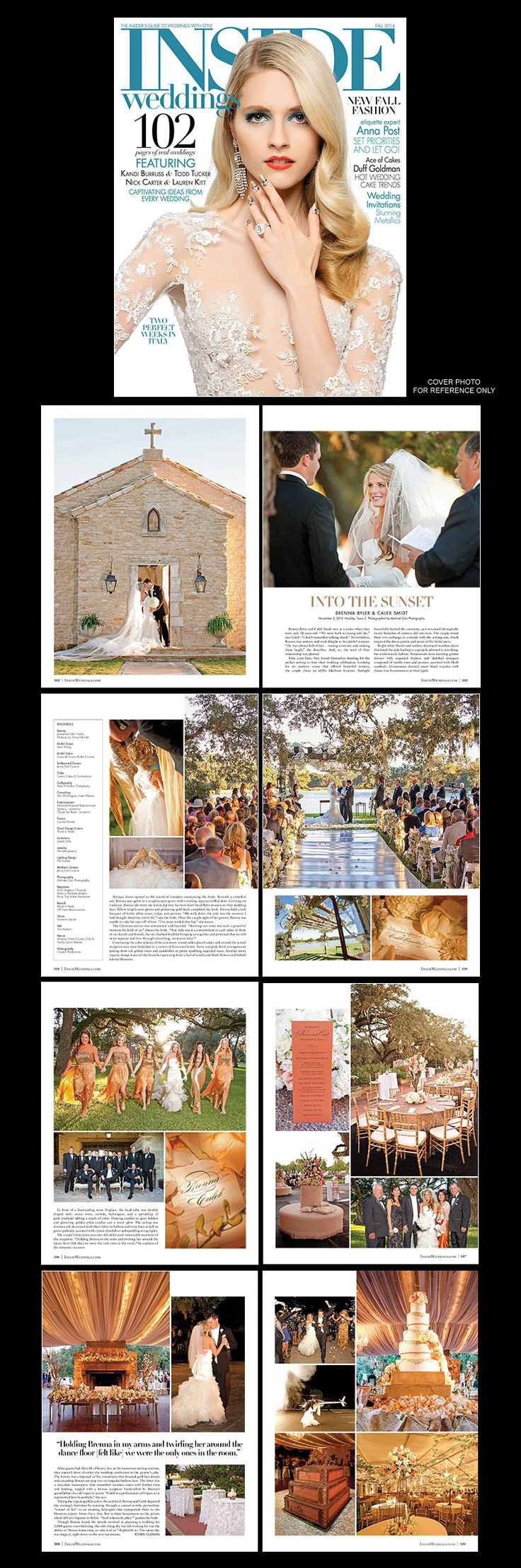 Inside Weddings Ceremony and Reception Houston Oaks Country Club