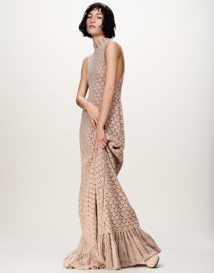 There's no better fall piece than this cashmere crochet-knit maxi dress. via @MATCHESFASHION