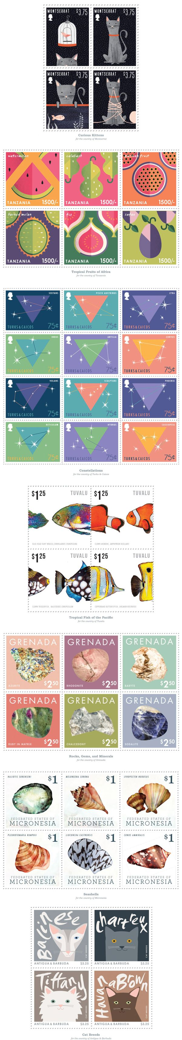 Postage Stamps on Behance