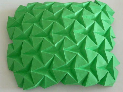 triangular waterbomb tessellation origami tessellation