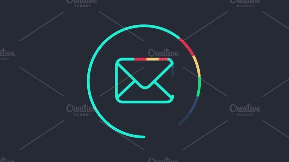 Animated Sending Email Symbol by barsrsind on @creativemarket