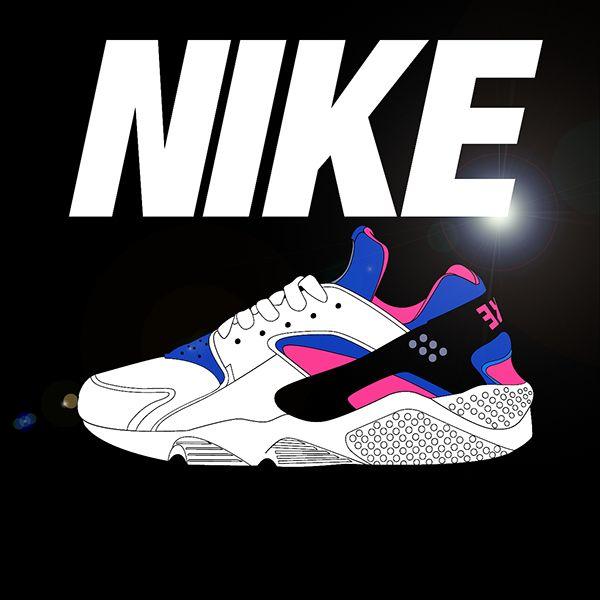 sale retailer 22747 50ad7 Nike air huarache by Graphique  Sneakers  Pinterest  Nike  cartoon, Sneaker art and Nike air huarache