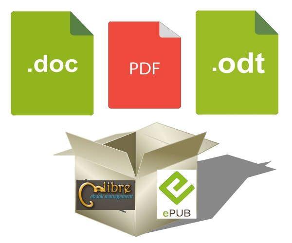 Guida alla conversione di documenti digitali in formato EPUB con l'uso di Calibre. Come convertire pdf in epub, file docx, odt e molto altro.