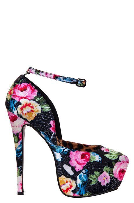 Iron Fist Queen Of Hearts, Schuhe, Absatzschuhe, Stilettos, Rot, Pink, Female, 36